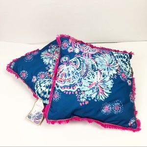 2 Lilly Pulitzer Pillows Indoor/Outdoor Square